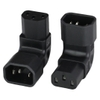 Photo of Adapter IEC 60320 C14 to C13 UP ANGLE 10A 250V BLACK
