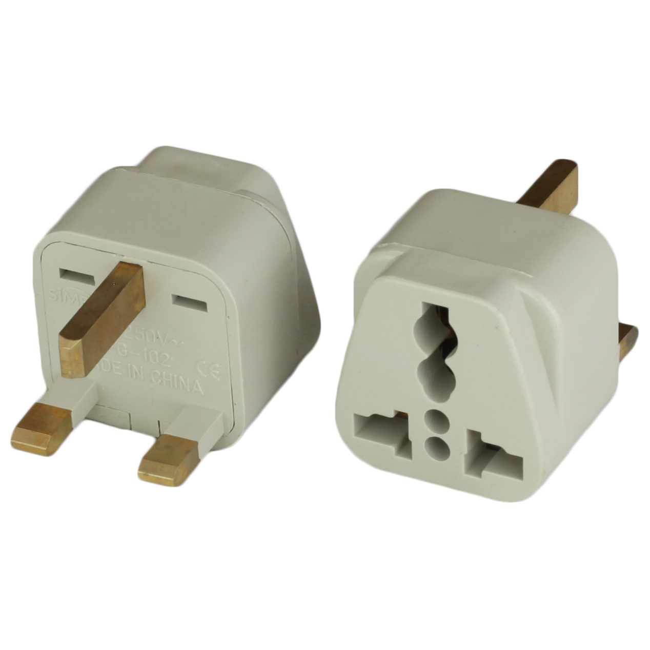 Photo of Adapter UK BS1363 Plug to IEC60320 C13 10A 250V - BLACK